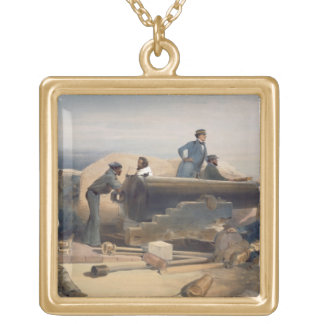 A Quiet Day in the Diamond Battery, plate from 'Th Gold Plated Necklace