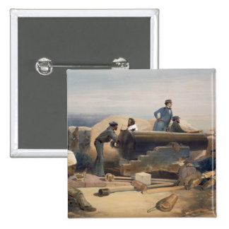 A Quiet Day in the Diamond Battery, plate from 'Th Pinback Button