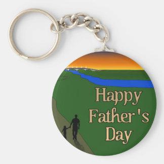 A Quiet Father & Son Walk Keychain