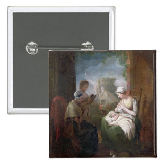 A Quiet Time, c.1810 (oil on canvas) Pinback Button