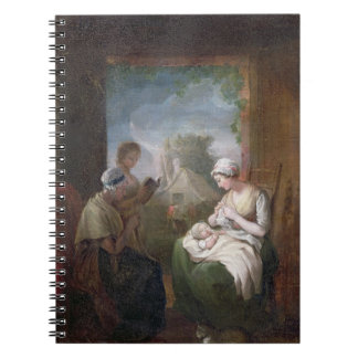 A Quiet Time, c.1810 (oil on canvas) Spiral Notebook
