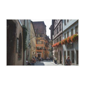 A quiet town of Rothenburg ob der Tauber, Germany. Canvas Print