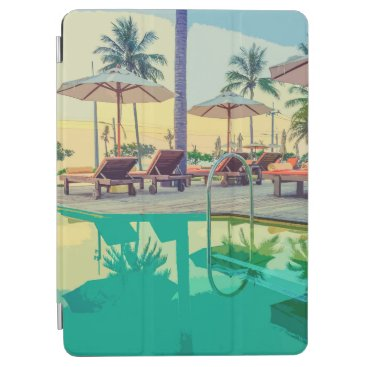 A Quiet View of Summer By The Pool   iPad Air Case