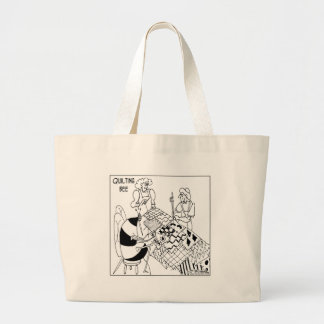 A Quilting Bee Large Tote Bag