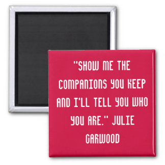 A quote 2 inch square magnet