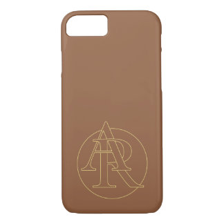 """""""A&R"""" your monogram on """"iced coffee"""" color iPhone 7 Case"""