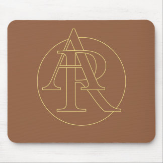 """A&R"" your monogram on ""iced coffee"" color Mouse Pad"