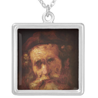 A Rabbi Silver Plated Necklace