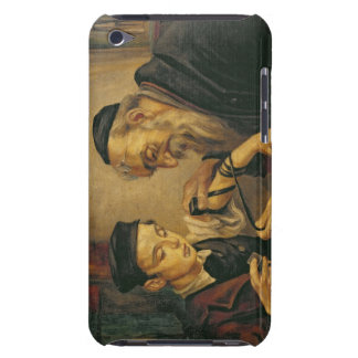 A Rabbi tying the Phylacteries to the arm of a boy Barely There iPod Cases