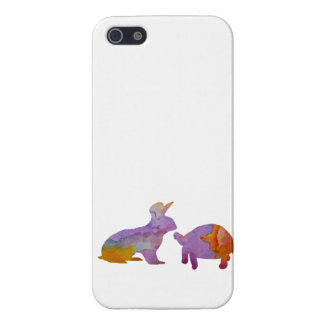 A rabbit and a tortoise case for iPhone SE/5/5s