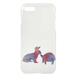 A rabbit and a tortoise iPhone 7 case