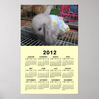 A Rabbit in a Dress 2012 Calendar Poster
