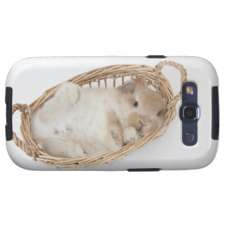 A rabbit is in a basket.Holland Lop. Galaxy SIII Cover