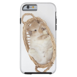 A rabbit is in a basket.Holland Lop. Tough iPhone 6 Case