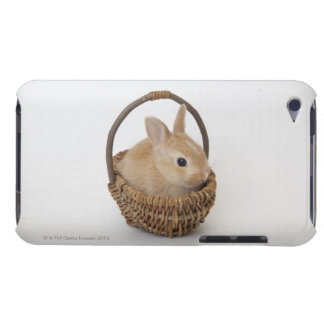 A rabbit is in a basket.Netherland Dwarf. Case-Mate iPod Touch Case