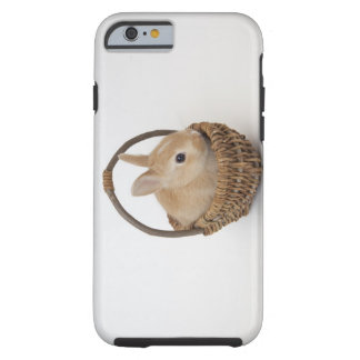 A rabbit is in a basket.Netherland Dwarf. Tough iPhone 6 Case