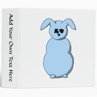 A Rabbit of Snow, Cartoon in Pale Blue. Binder