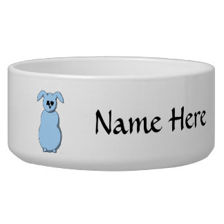A Rabbit of Snow, Cartoon in Pale Blue. Bowl