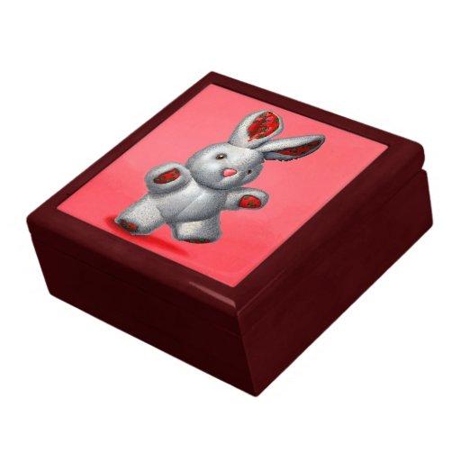 A rabbit plush gift box