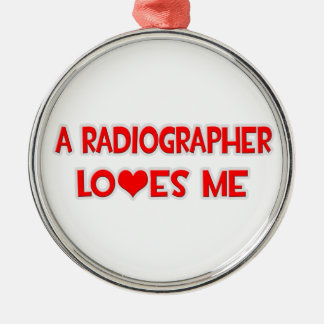 A Radiographer Loves Me Christmas Ornaments