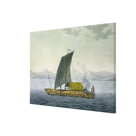 A raft leaving the port of Guayaquil, Ecuador, fro Canvas Print
