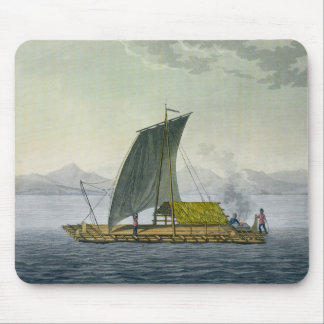 A raft leaving the port of Guayaquil, Ecuador, fro Mouse Pad