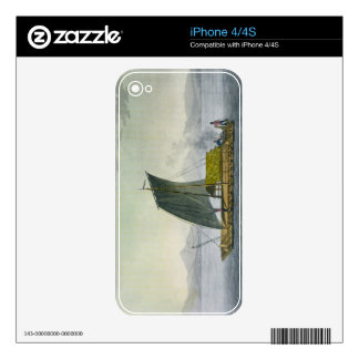 A raft leaving the port of Guayaquil, Ecuador, fro Skin For iPhone 4S