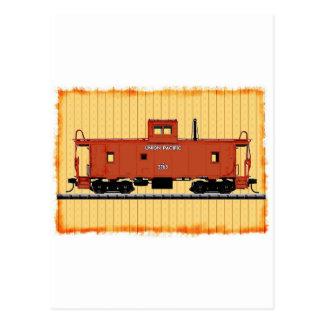 A Railroad Caboose Postcard
