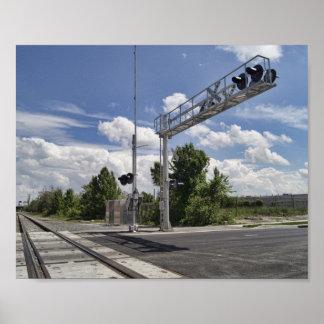 A Railroad Crossing Poster