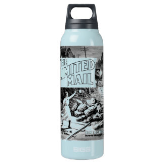 A Railroad Play -The Limited Mail 1899 16 Oz Insulated SIGG Thermos Water Bottle