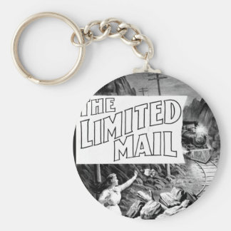A Railroad Play -The Limited Mail 1899 Basic Round Button Keychain