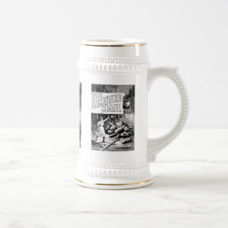 A Railroad Play -The Limited Mail 1899 Beer Stein