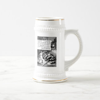 A Railroad Play -The Limited Mail 1899 Beer Stein 18 Oz Beer Stein