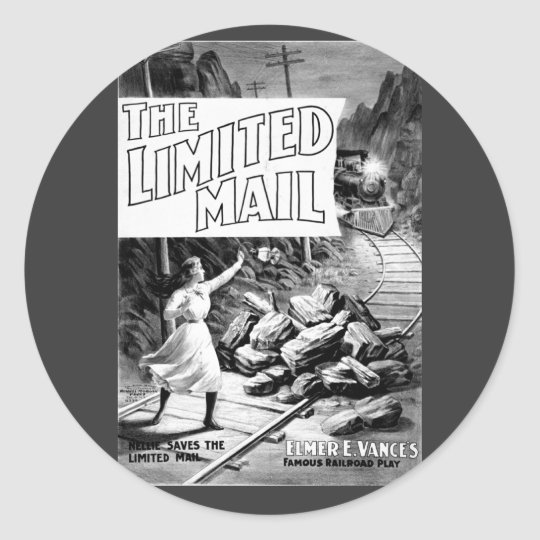 A Railroad Play -The Limited Mail 1899 Classic Round Sticker