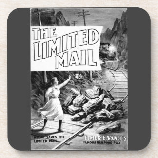A Railroad Play-The Limited Mail 1899 Cork Coaster