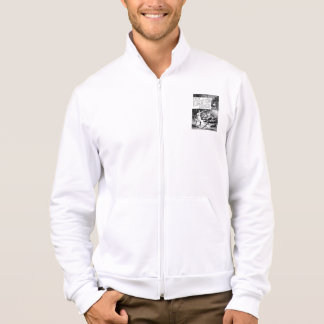 A Railroad Play-The Limited Mail 1899 Fleece Zip Printed Jacket