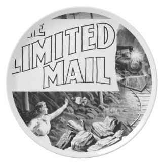 A Railroad Play -The Limited Mail 1899 Plate