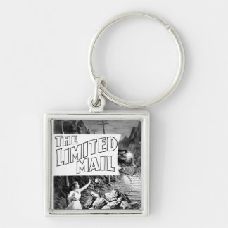 A Railroad Play -The Limited Mail 1899 Silver-Colored Square Keychain
