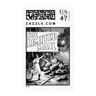 A Railroad Play -The Limited Mail 1899 Stamp