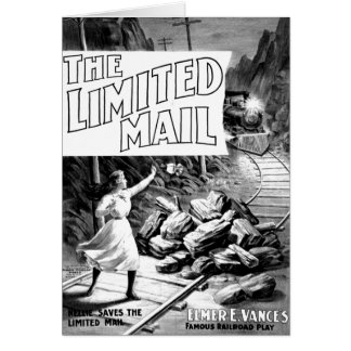 A Railroad Play -The Limited Mail 1899 Stationery Note Card