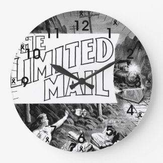 A Railroad Play -The Limited Mail 1899 Wall Clock