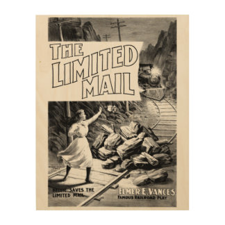 A Railroad Play-The Limited Mail 1899 Wood Wall Art