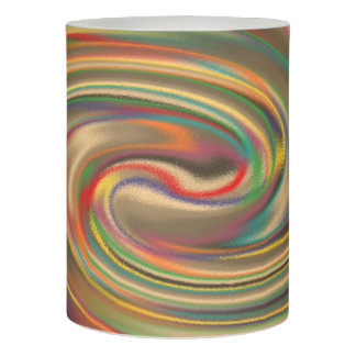 A Rainbow Dust Storm Flameless Candle