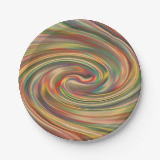 A Rainbow Dust Storm Paper Plates