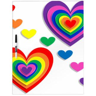 A Rainbow For My Valentine Dry Erase Whiteboard