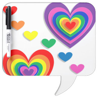 A Rainbow For My Valentine Dry-Erase Board