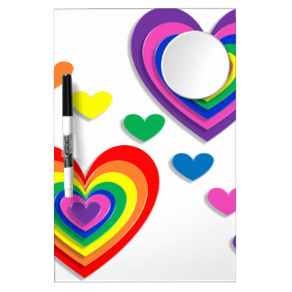 A Rainbow For My Valentine Dry Erase Whiteboards