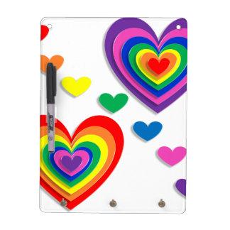 A Rainbow For My Valentine Dry Erase Board