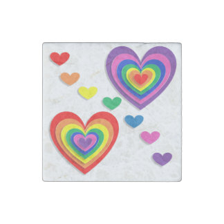 A Rainbow For My Valentine Stone Magnet
