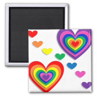 A Rainbow For My Valentine Refrigerator Magnets